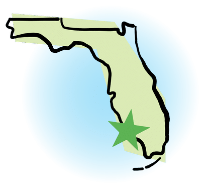 Cypress Plumbing locations in Florida are marked with a green star on the state map