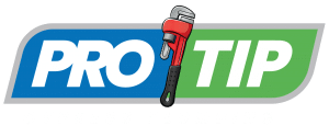 Pro Tip banner with red and black wrench with tagline in white that reads Cypress Plumbing